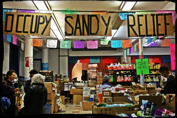 November 21st, 2012: The Occupy Sandy hub at St. Jacobi Church in Brooklyn.