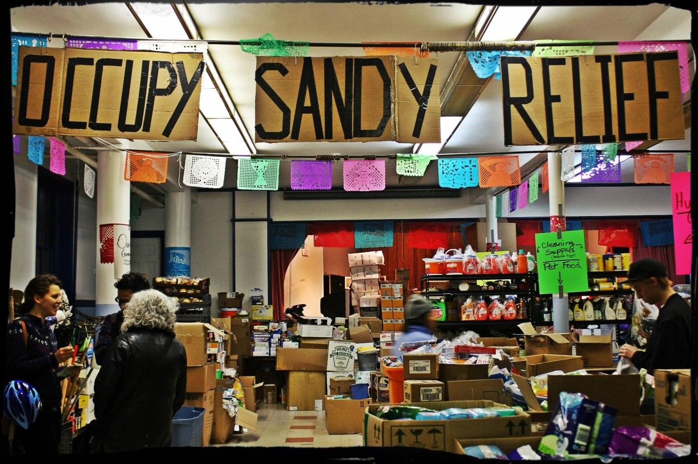 November 21st, 2012: The Occupy Sandy hub at St. Jacobi Church in Brooklyn.