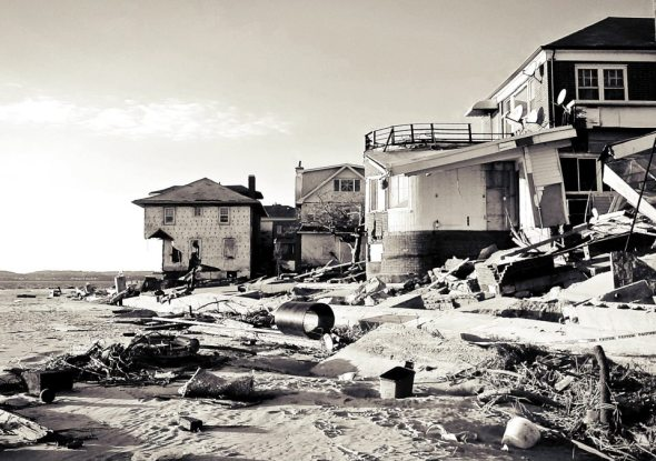 November 9th, 2012: Homes damaged along the beach in Sea Gate, Coney Island.