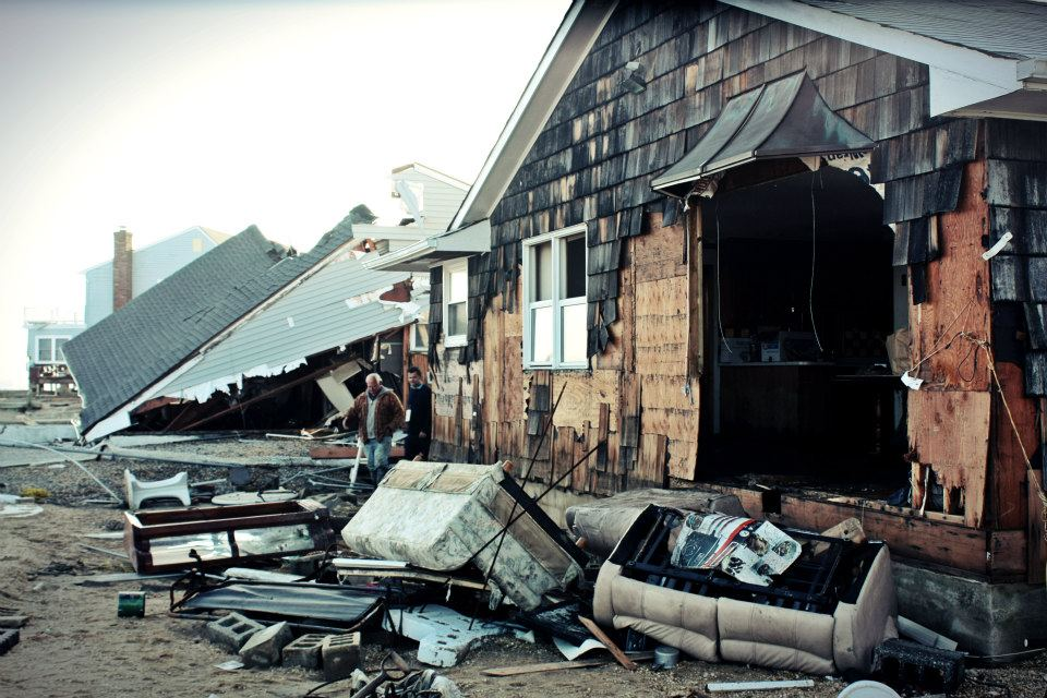 November 12th, 2012: Destroyed homes on Bay Shore Drive in Toms River, NJ.