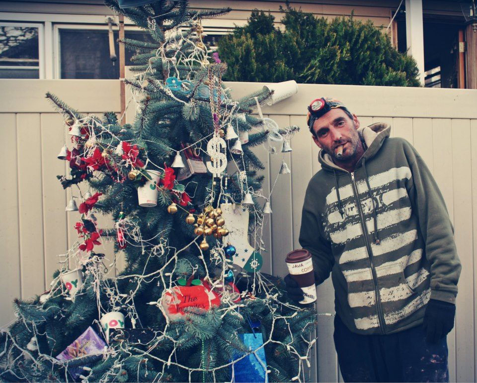 November 15th, 2012: This New Dorp Beach resident told me he put his Christmas tree out in his yard in hopes of cheering up the kids in this neighborhood that was hard-hit by hurricane Sandy.