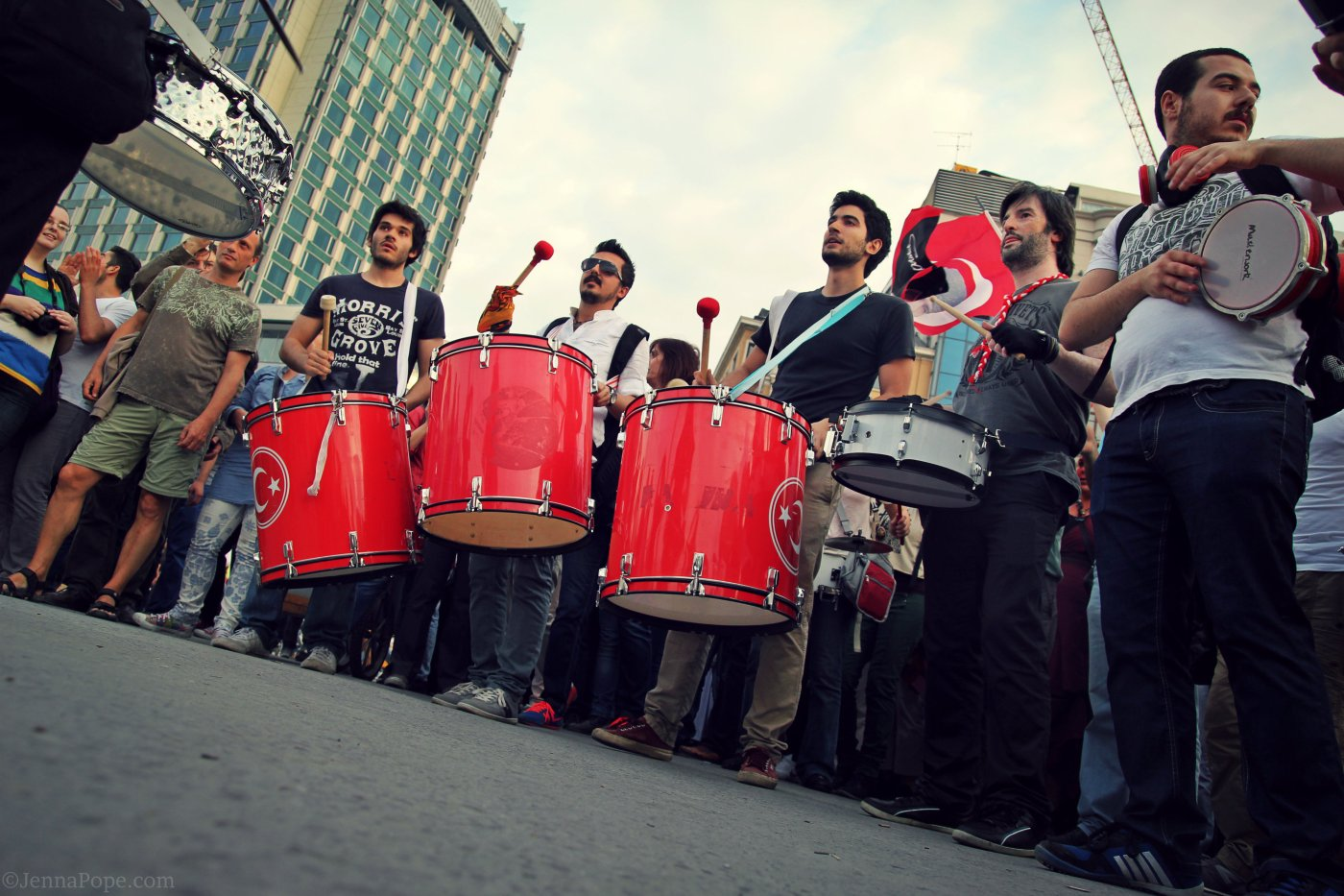 Drummers in Taksim Square.